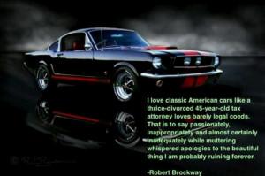 Classic American car quote Robert Brockway