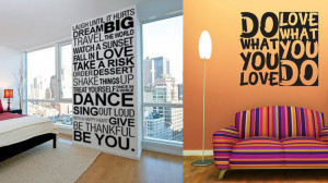 Turn a Pinterest quote into a wall decal.
