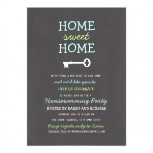Home Sweet Home Housewarming Invite from Zazzle.com