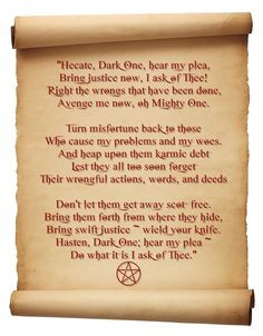 Hecate Justice spell chant Correspondences for Hecate Color: Black ...