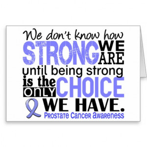 Prostate Cancer How Strong We Are Cards