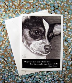 Dog quote card: Chihuahua / Roger Caras wisdom
