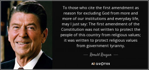 To those who cite the first amendment as reason for excluding God from ...
