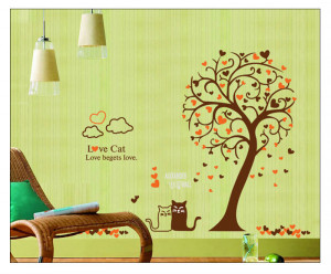 download this family quote and flower pot large size wall sticker