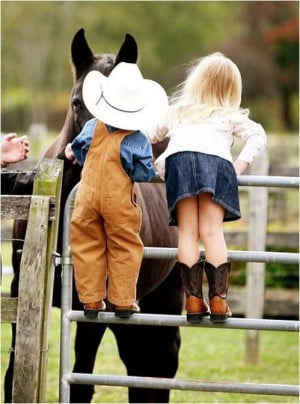 cute cowgirl with cute cowboy cute cowgirl and cowboy quotes