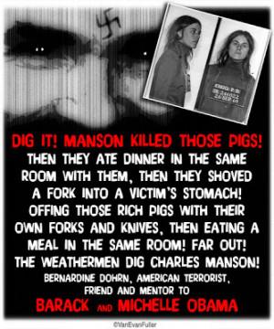 Bernadine Dohrn's quote re Charles Manson murders