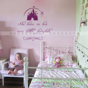 Princess Sleeping Beauty Fantasy Castle Quote wall sticker Baby Girls ...