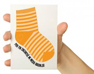 54. Spanish Funny Valentine Card -Por fin encontré mi media naranja ...