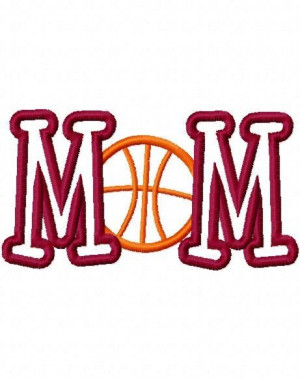 Basketball Mom Embroidery Machine Applique Design 2438 INSTANT ...