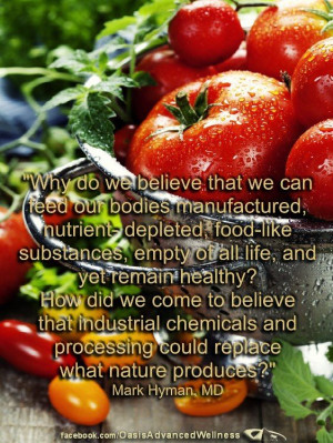 ... and processing could replace what nature produces?