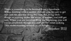 Quote from Hagakure Book of the Samurai