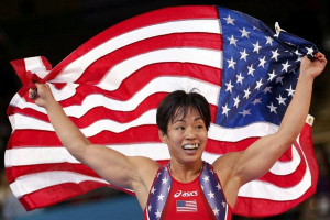 ... Merleni for the bronze medal of the Women's 48Kg Greco-Roman wrestling