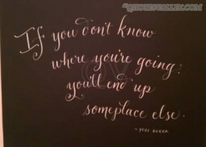 If You Don't Know Where You're Going