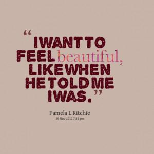 feeling beautiful quotes quotesgram