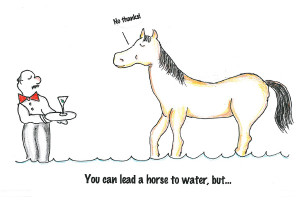 These old sayings could use some freshening up! Here are some cartoons ...