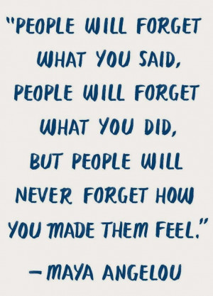People Will Forget