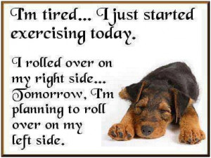 Im tired… I just started exercising today. I rolled over on my right ...
