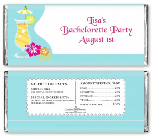 Margarita Drink - Personalized Bachelorette Party Candy Bar Wrappers