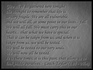 Coach Taylor quote