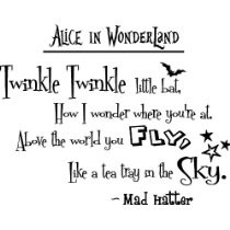 ... tea tray in the sky. Lewis Carroll. cute Wall art Wall sayings quote