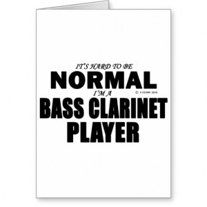 Normal Bass Clarinet Player Cards