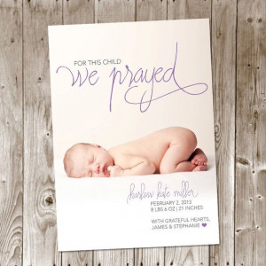 ... Birth Announcement - Christian - Baby Boy - Baby Girl on Etsy, $12.00