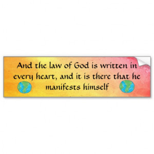 Quaker Quote bumper sticker