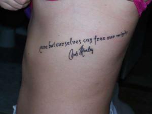 Bob Marley Quote tattoo