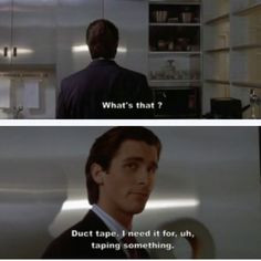 American Psycho Huey Lewis Quote Pin it. like. american psycho.