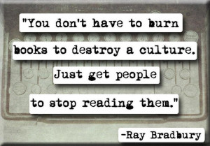 Ray Bradbury on burning books