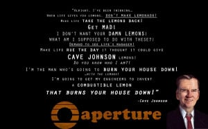 quotes portal 2 cave johnson lemons Knowledge Quotes HD Wallpaper