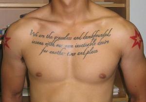 Self Deprecatory Tattoo Piece