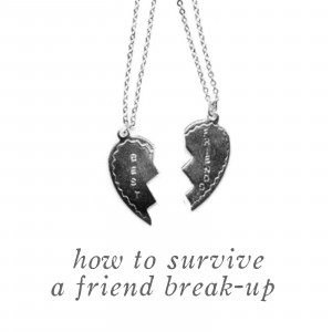 HOW TO SURVIVE A FRIEND BREAK-UP....