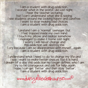 POEM: I am a student with drug addiction...