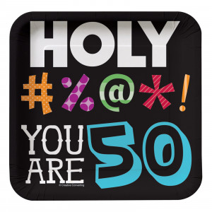 Home > Holy Bleep 50th Birthday - Square Dessert Plates