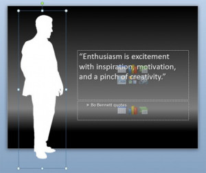 ... here you can change the layout of your PowerPoint quote in this way