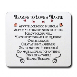 ... Gifts > 10 Reasons Office > 10 Reasons to love a Marine Mousepad