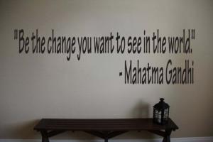 Mahatma Gandhi Inspirational Classroom Quote Vinyl Wall Sticker Decal ...