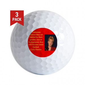 2016 Gifts > 2016 Golf Balls > carly fiorina quote Golf Ball