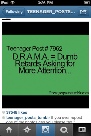 am so sick of drama.... Well now I know why