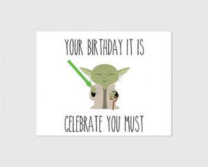 Funny Star Wars Birthday Card Star wars birthday card