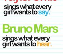 quotes, love them, Taylor Swift, bruno mars