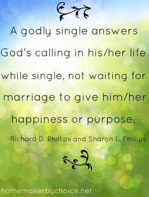 Godly Single Answers God's Calling In His Life While Single, Not ...