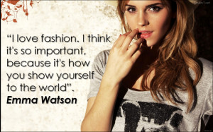 Fashion Quote -Emma-Watson-