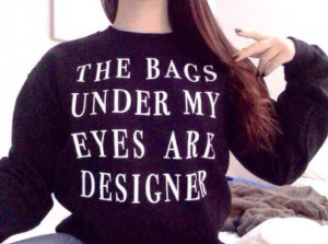 sweater designer bag black quote on it true swag skreened super cute ...