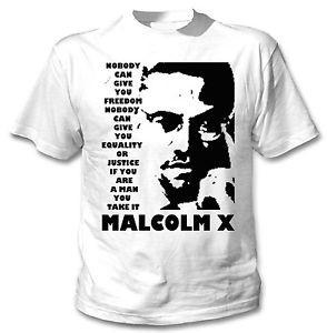 MALCOLM-X-NOBODY-QUOTE-1-NEW-AMAZING-GRAPHIC-TSHIRT-S-M-L-XL-XXL
