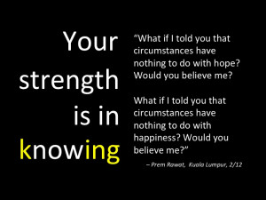 Your Strength is in Knowing