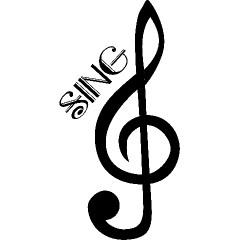 Treble Clef Sing Music T-shirts