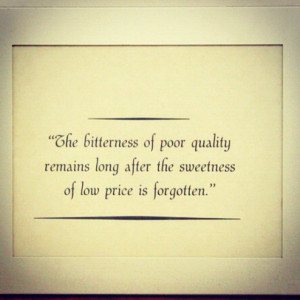 Bitterness of low quality lasts longer than the sweetness of the low ...