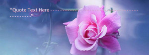Beautiful Pink Flower Facebook Name Cover Quotes Name Covers